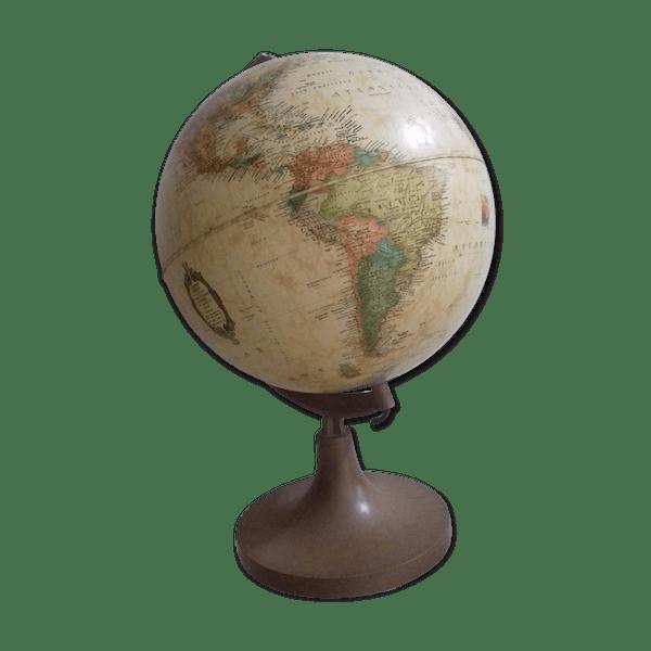 Smart Lampe globe terrestre mappemonde - papier - beige - vintage - IVFf41a UG19