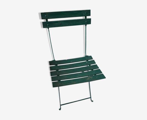 Classique Chaise Vert Ancienne Pliante Fer Uwszjkt TF3u1cKJl