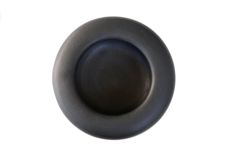 Black ceramic trinket bowl by Antonio Lampecco, years 70