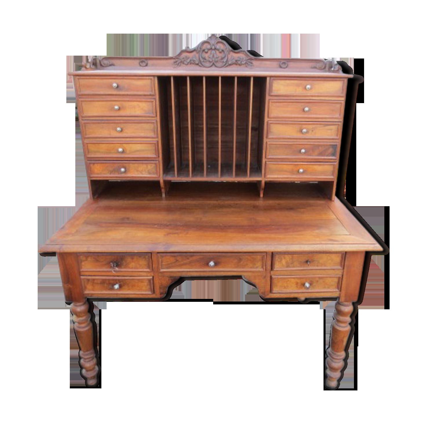 Bureau de notaire du xixème siècle bois matériau bois