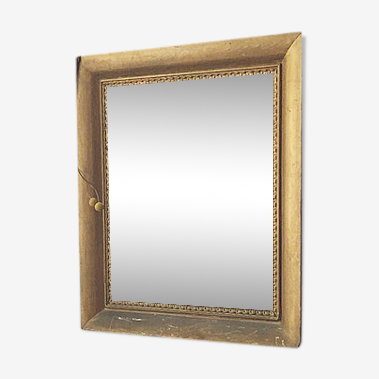 Miroir doré rectangle 68 x 77 cm