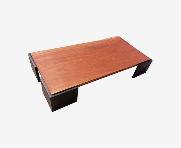 Boismatériaucouleur Massif Acajou Table En Basse EIHD29