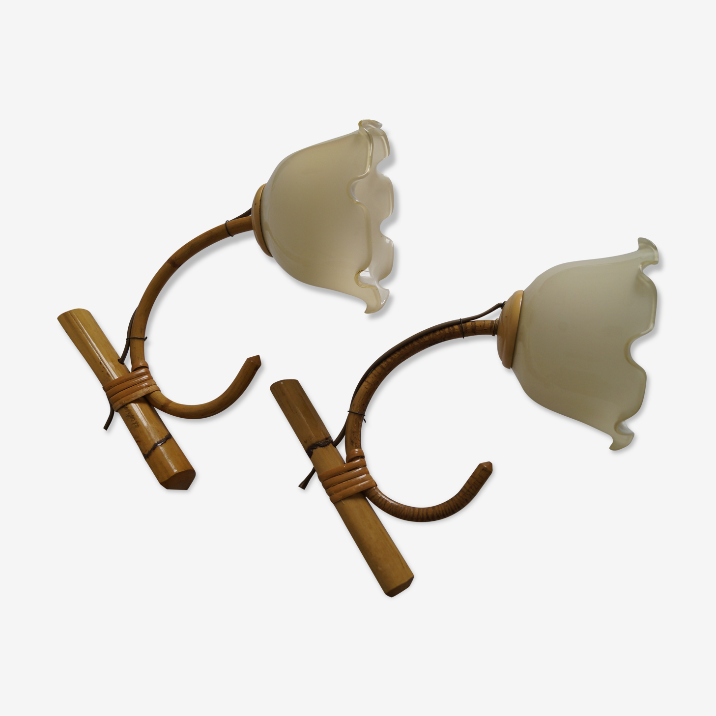 Pair of vintage wall lamps 70