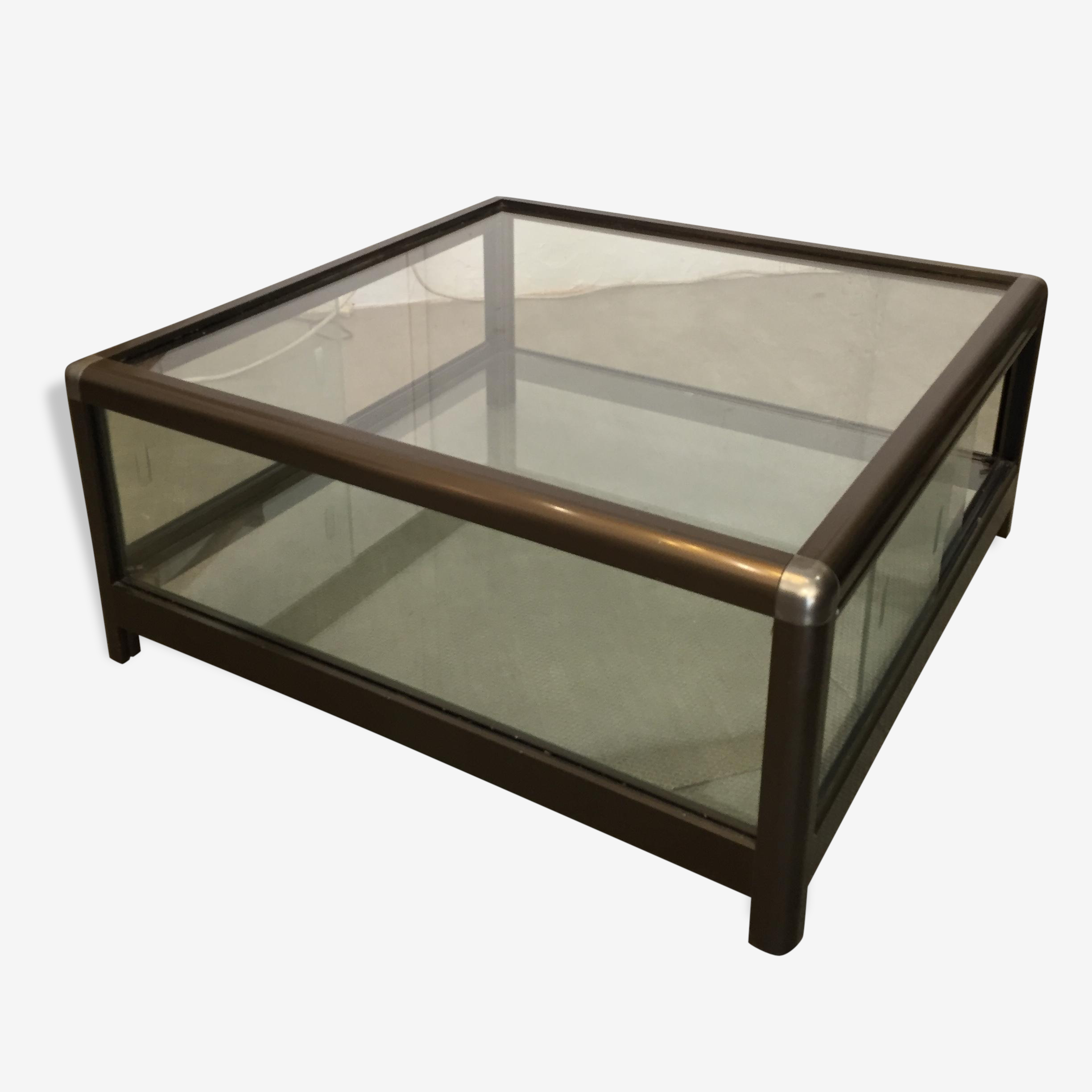 Table Basse Vitrine Verre Et Cristal Design 153058