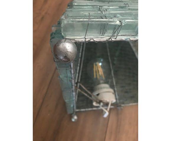 Stacked glass pyramid lamp 1970 | Selency