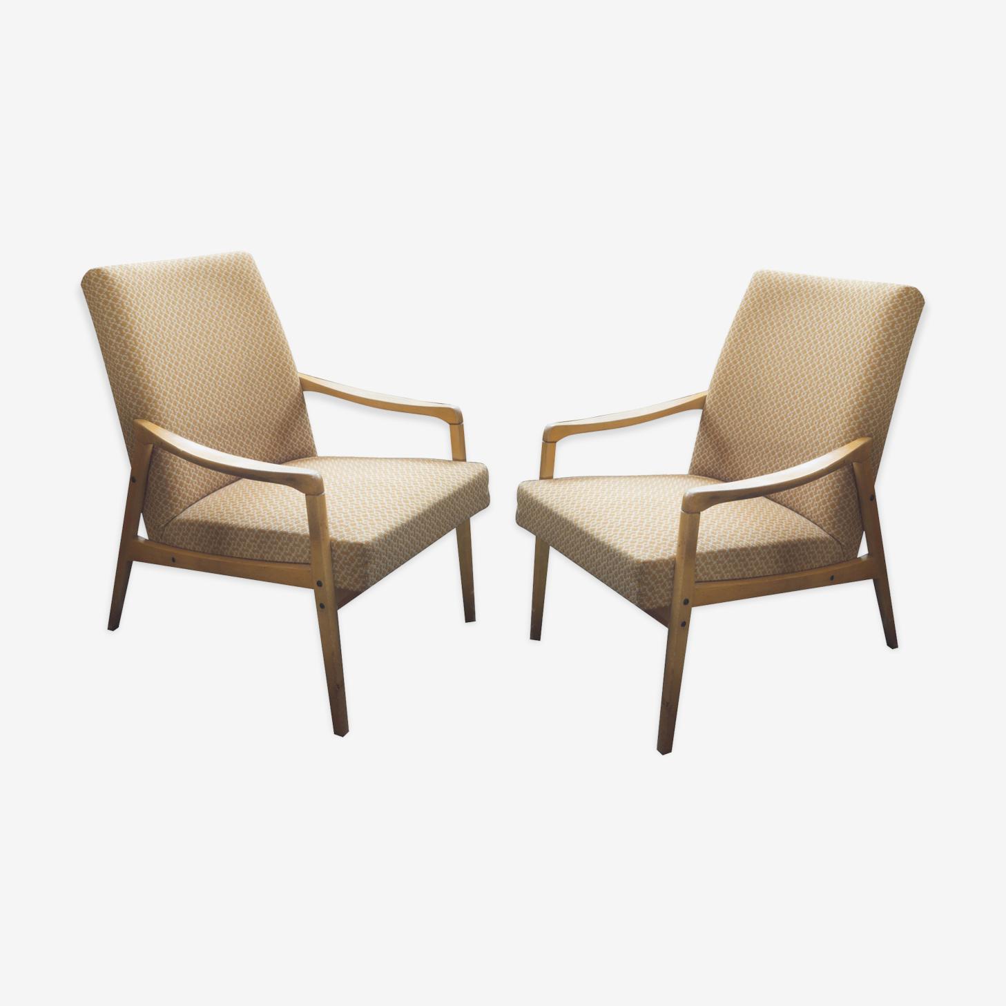 Paire de fauteuils de style danois