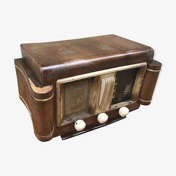 Ancienne radio tsf art deco bois