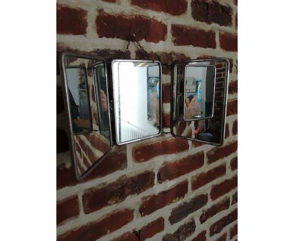 Miroir barbier triptyque 15x21cm