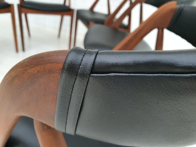6 chaises de salle à manger de Kai Kristiensen, années 70