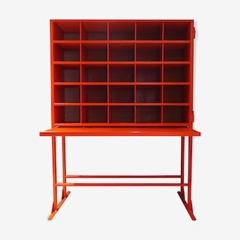 Bureau industriel postal rouge 25 casiers rénové