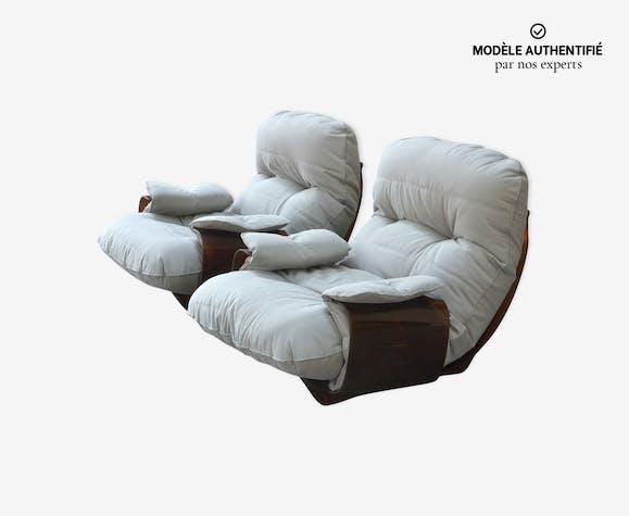 """Paire de fauteuils """"Marsala"""" par Michel Ducaroy pour Ligne Roset"""