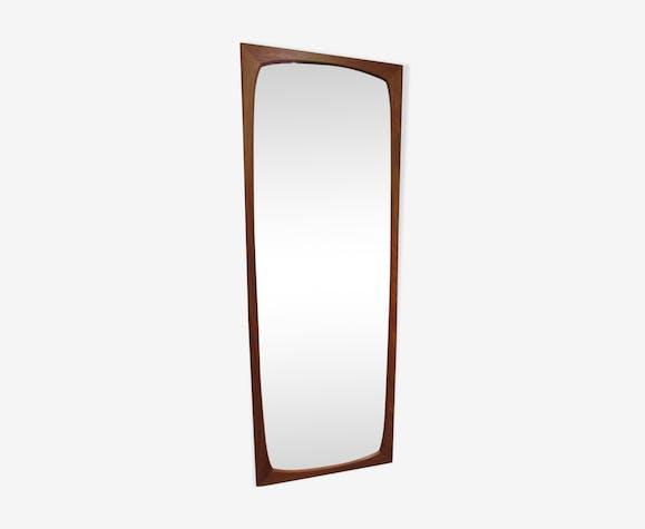 Miroir danois en teck 115 cm X 42 cm
