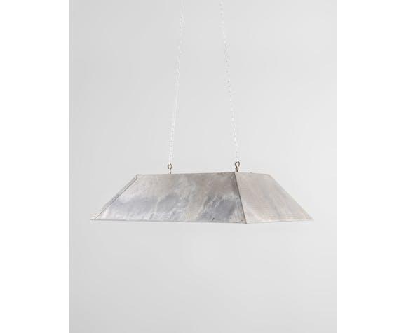 Industrial rectangular ceiling lamp