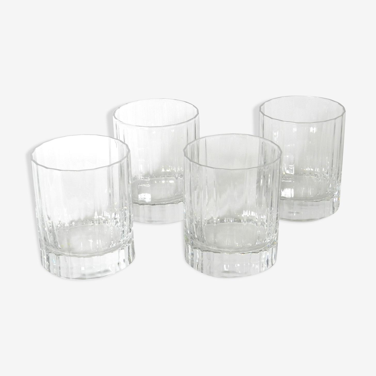 4 crystal whisky glasses