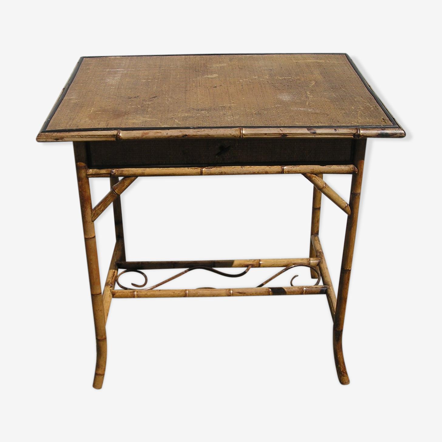 Antique desk bamboo