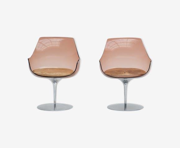 Paire de chaises Estelle et Erwine Laverne