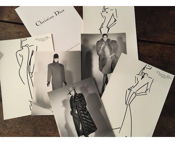 """Christian Dior, illustration de mode de presse """"collection automne - hiver  1986-1987"""""""