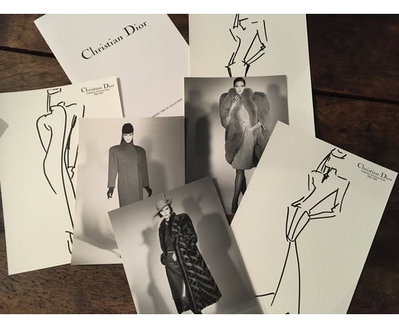 "Christian Dior, illustration de mode de presse ""collection automne - hiver  1986-1987"""