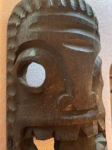 Masque tribal océanien XX siècle