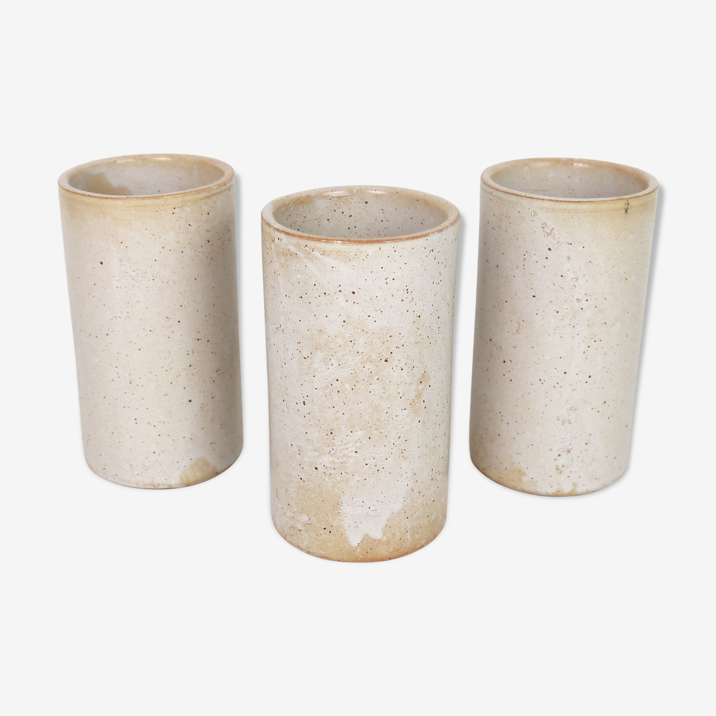Three vases in stoneware