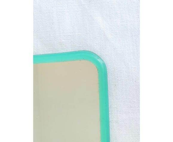 Miroir de barbier vintage vert 39x31cm