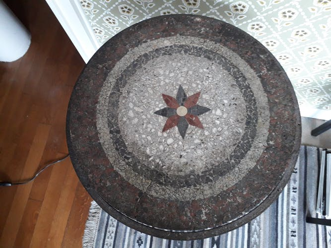 Table vintage en fer forgé