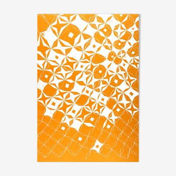 Orange diamond pattern