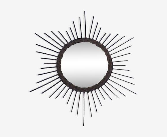 Miroir  soleil circa 1950 - 59x59cm