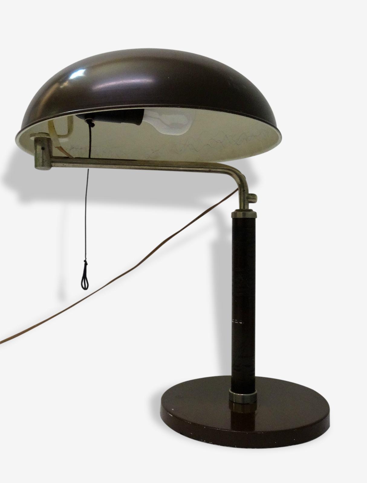 Alfred Muller Design Lampe Bureau Moderniste Quick 1500 Metal