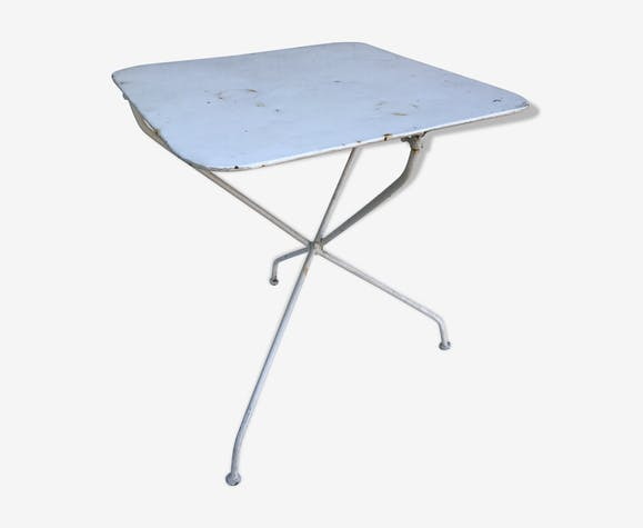 Table de jardin en métal blanc - métal - blanc - vintage ...