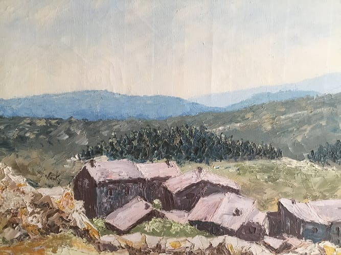"""Oil on canvas """"Provencal Drôme"""""""