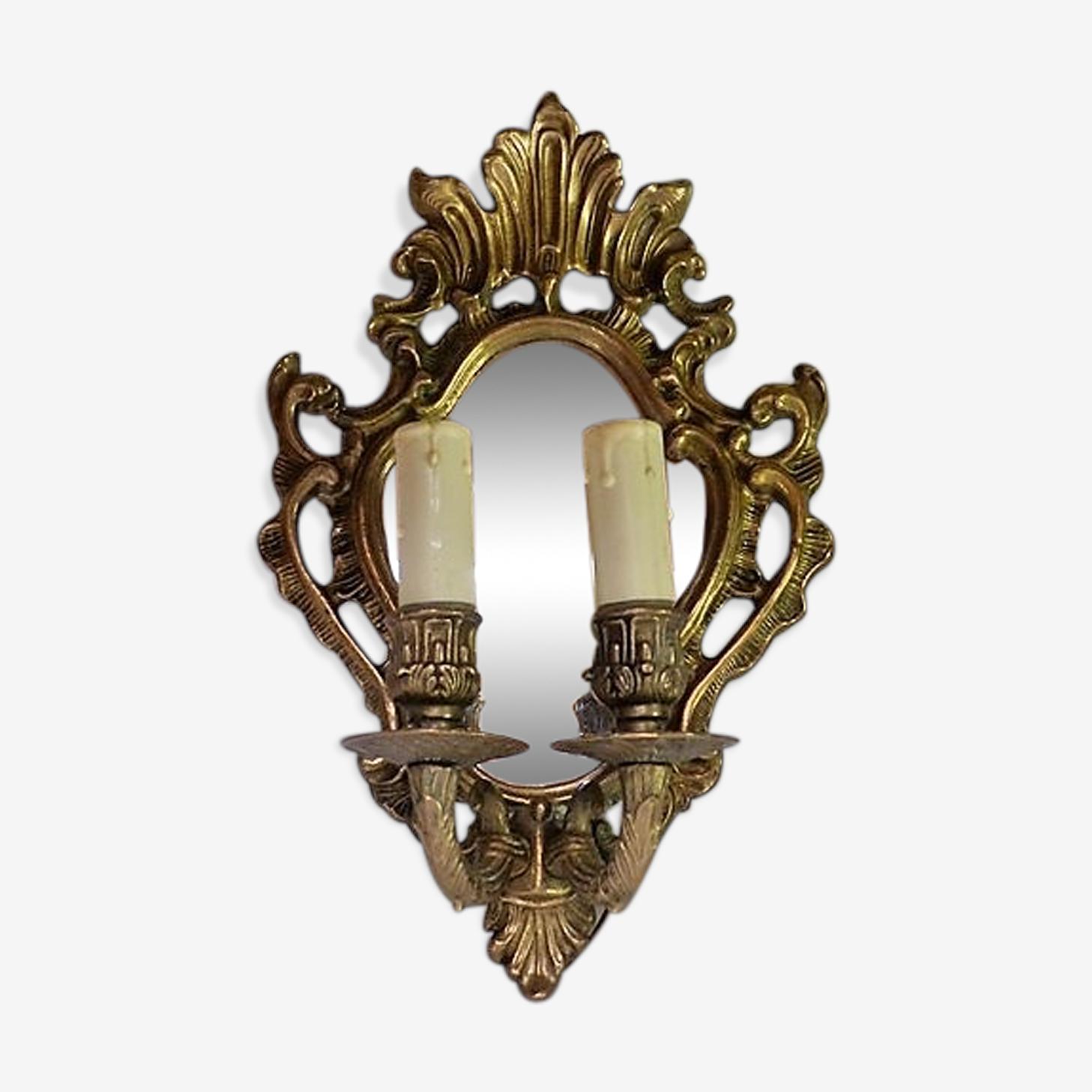 Applique miroir en bronze