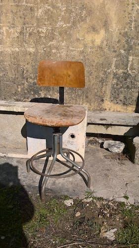 Tabouret d'atelier industriel vintage 1950