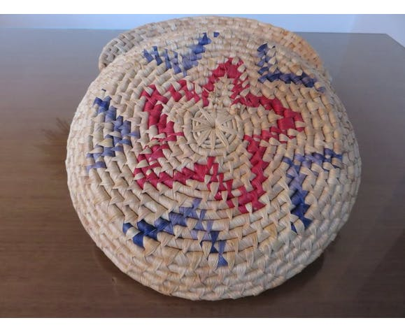 Series of 6 baskets Berber ethnic years 70