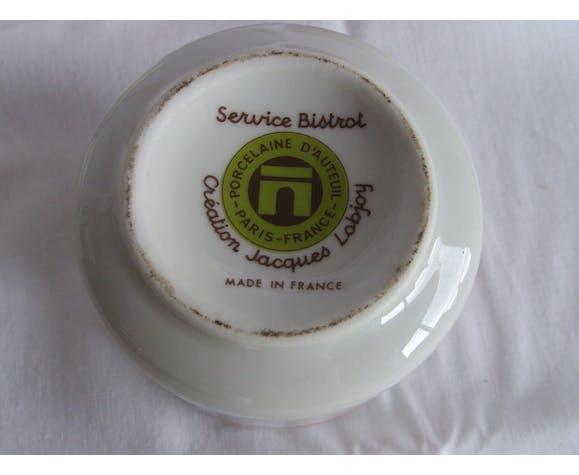 4 pots à épices porcelaine d'Auteuil modèle Bistrot par Lobjoy