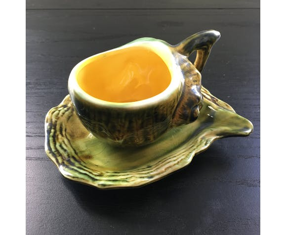 Tasse escargot en barbotine