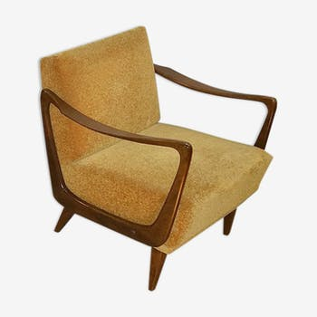 Fauteuil vintage scandinave années 50-60 Boomerang design Danois