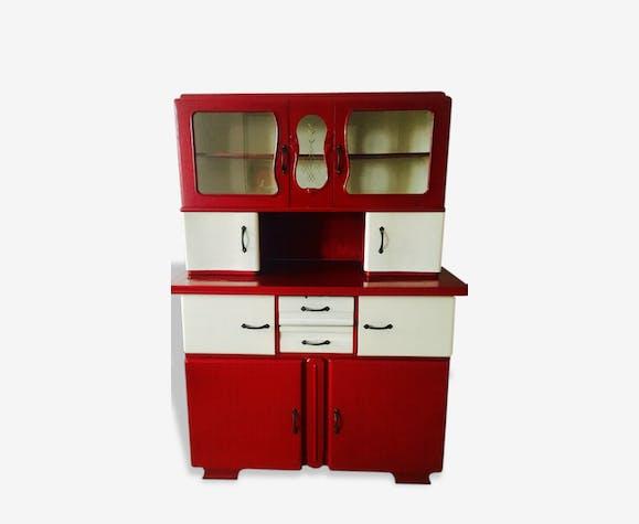 Meuble mado 1950 bois mat riau rouge art d co 141191 for Meuble cuisine 1950