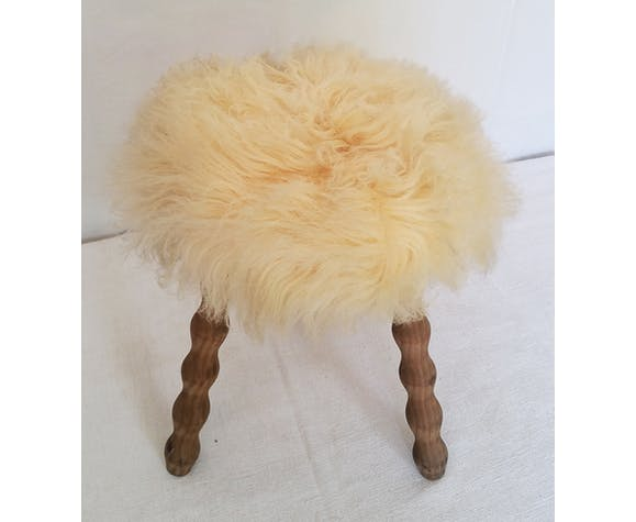 "Tripod stool ""ethnic chic"" 60/70"