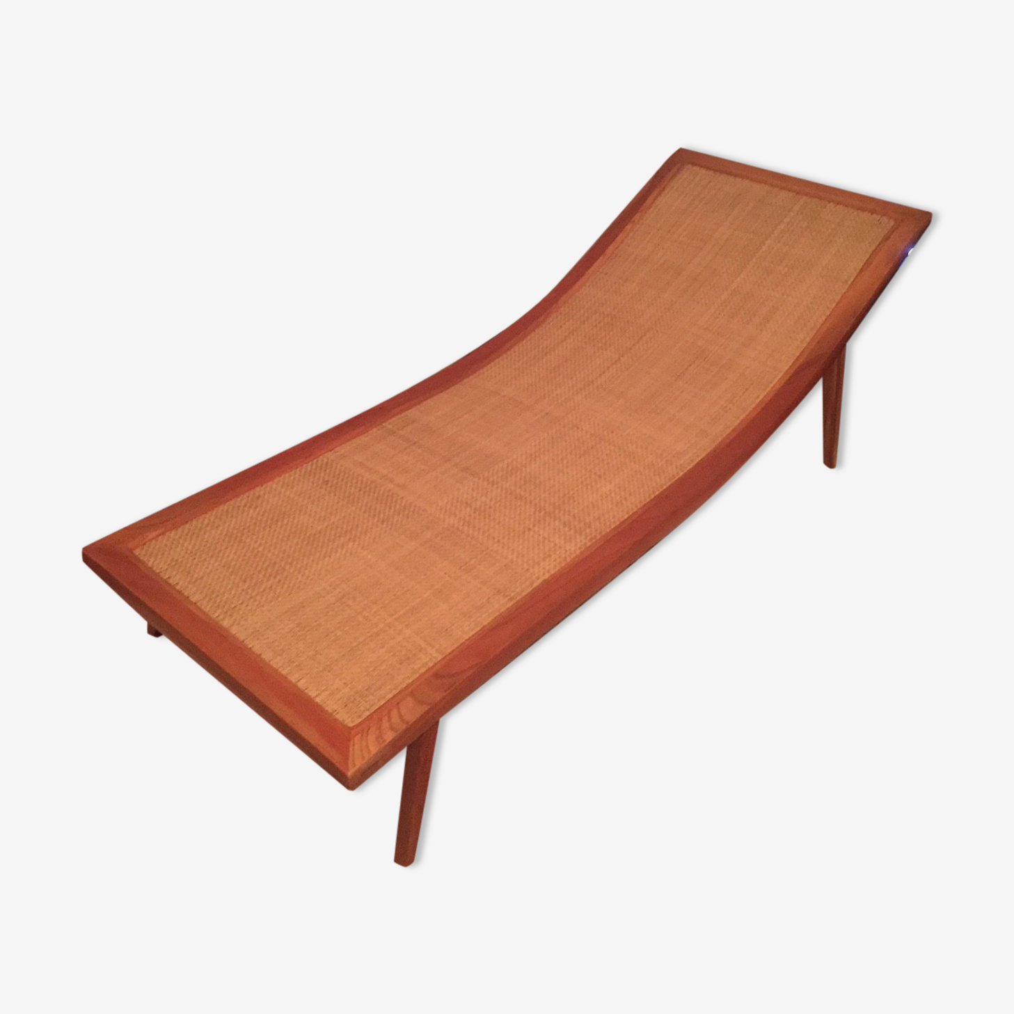 Asian seat in wood and wicker
