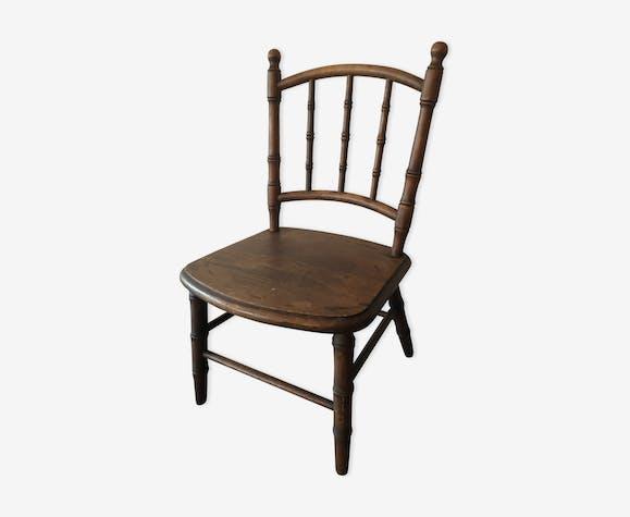 Chaise bois ancienne pour enfant