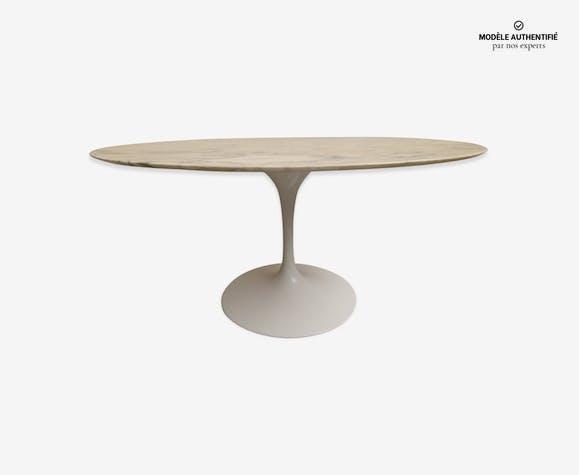 table marbre knoll marbre blanc design 3sfrktf. Black Bedroom Furniture Sets. Home Design Ideas