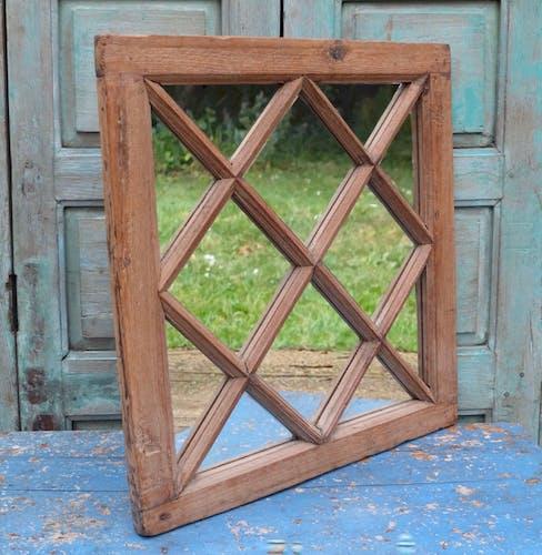 Miroir en bois indien 60x66cm