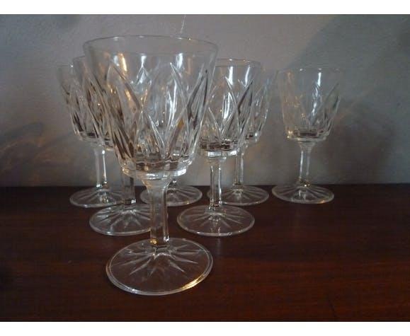 Set de 6 verres vintage à losanges