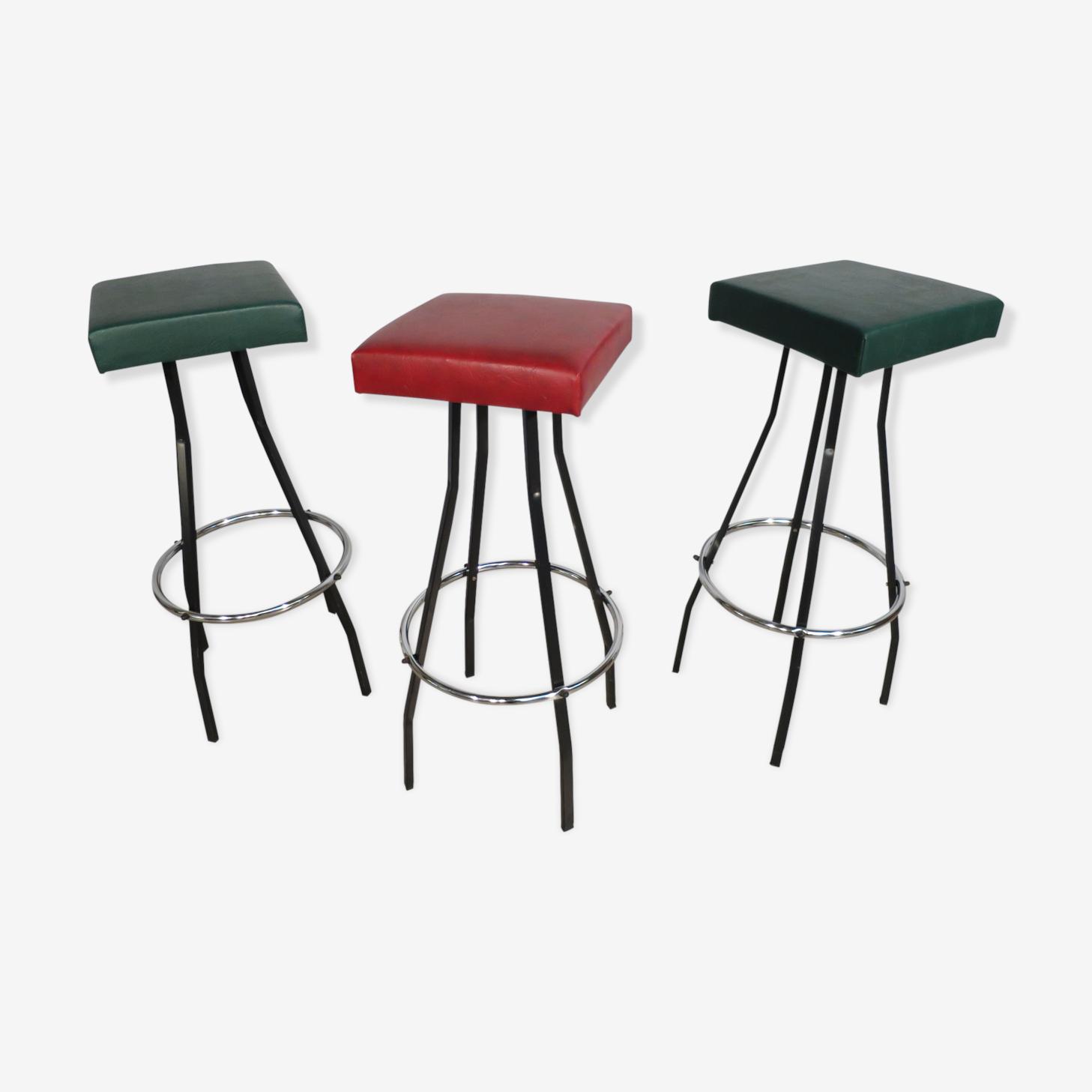 Set of 3 stools years 60