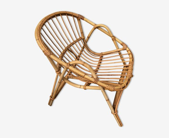 Child's wicker armchair in rattan