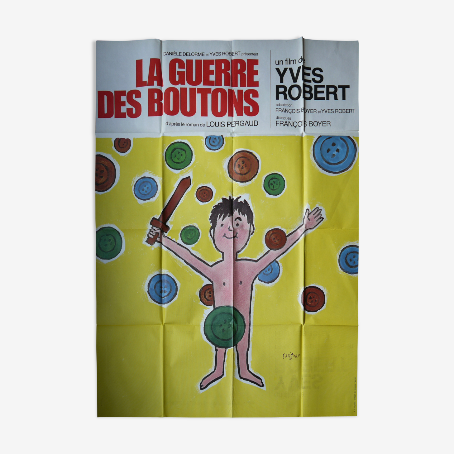 Original movie poster - the war of the buttons - Yves Robert