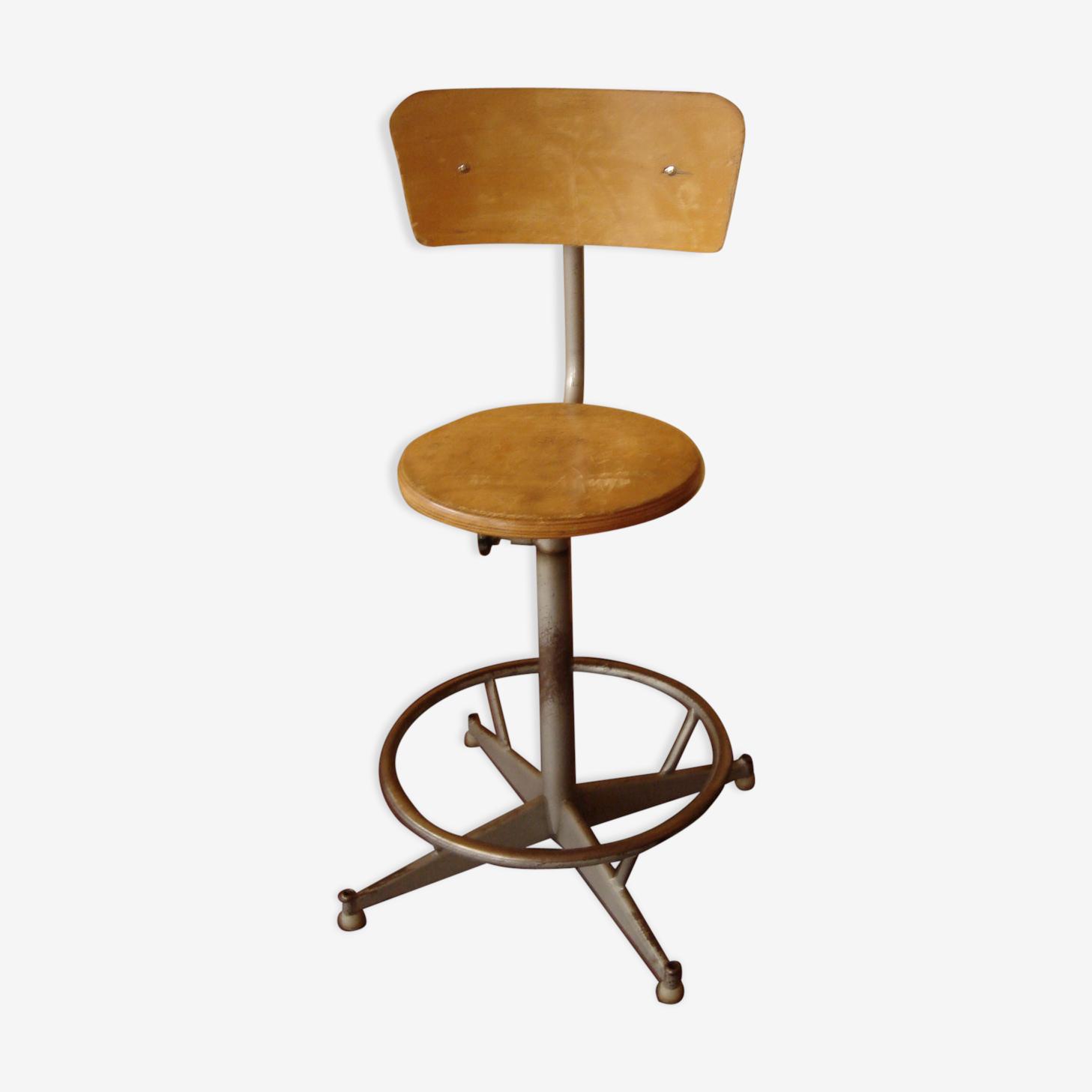 Chaise haute d'atelier de 1970