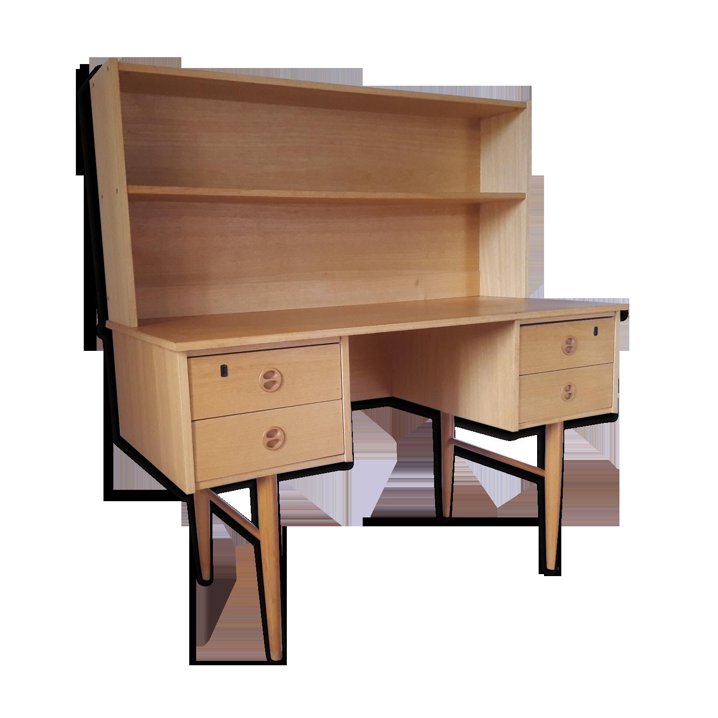 Bureau avec étagère années bois matériau bois couleur