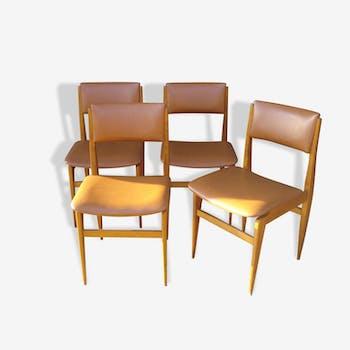 Lot de 4 chaises lignes scandinaves